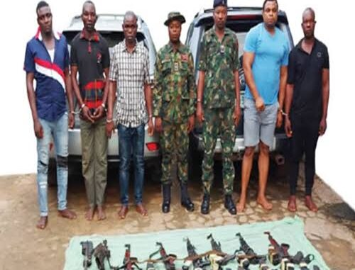 Ex-Soldiers, Others Arrested For Robbery (See Photos)