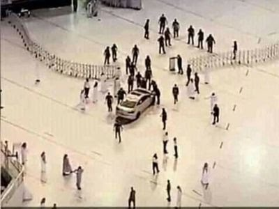 Saudi Man Crashes Car Into Makkah's Grand Mosque ( Watch Video)