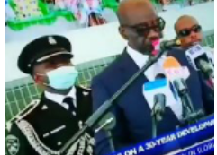 Governor Obaseki's Aide-De-Camp Collapses During His Second Term Inauguration (Watch Video)